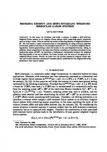 BEURLING DENSITY AND SHIFT-INVARIANT WEIGHTED ...