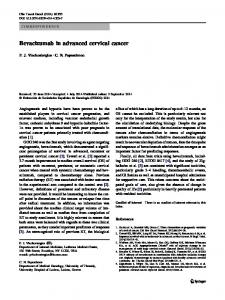 Bevacizumab in advanced cervical cancer - Springer Link
