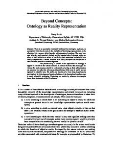 Beyond Concepts: Ontology as Reality Representation - Buffalo ...