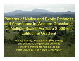 Beyond native-exotic richness relationships: importance of scale ...
