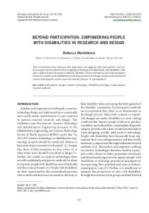Beyond Participation: Empowering People with