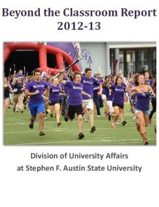 Beyond the Classroom Report 2012-13 - Stephen F. Austin State ...