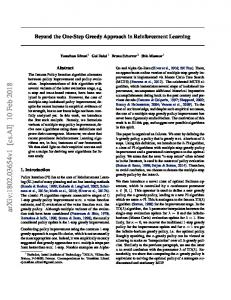 Beyond the One-Step Greedy Approach in Reinforcement ... - arXiv