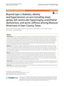 Beyond type 2 diabetes, obesity and hypertension ... - Semantic Scholar