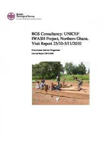 BGS Unicef inception report