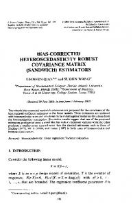 bias-corrected heteroscedasticity robust covariance ...