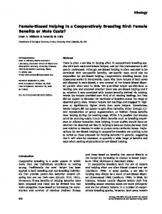 Biased Helping in a Cooperatively Breeding ... - Wiley Online Library