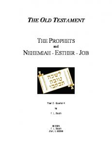 Bible Class Curriculum On The Old Testament - Church of Christ ...