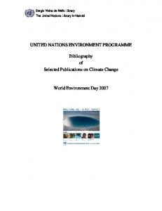 Bibliography on Climate Change