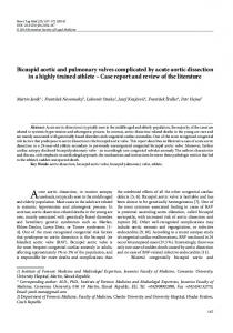 Bicuspid aortic and pulmonary valves complicated by