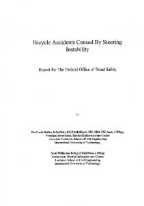Bicycle road accidents caused by steering instability - Department of ...