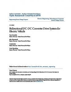 Bidirectional DC-DC Converter Drive System for Electric Vehicle