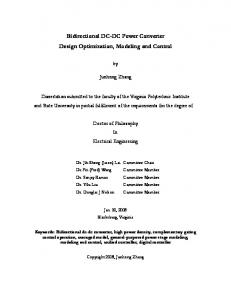 Bidirectional DC-DC Power Converter Design Optimization ...