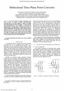 Bidirectional Three Phase Power Converter - UM Research Repository