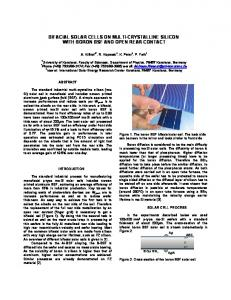 Bifacial solar cells on multi-crystalline Silicon with ... - ISC Konstanz