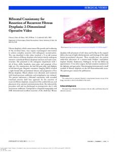 Bifrontal Craniotomy for Resection of Recurrent Fibrous Dysplasia: 2