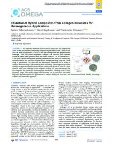 Bifunctional Hybrid Composites from Collagen ... - ACS Publications