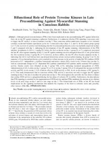 Bifunctional Role of Protein Tyrosine Kinases in Late Preconditioning ...