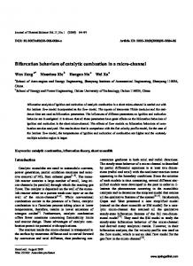 Bifurcation behaviors of catalytic combustion in a micro ... - Springer Link
