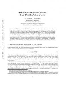 Bifurcation of critical periods from Pleshkan's isochrones