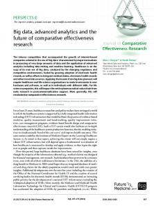 Big data, advanced analytics and the future of ... - Future Medicine