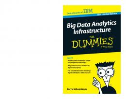 Big Data Analytics Infrastructure For Dummies, IBM Limited Edition