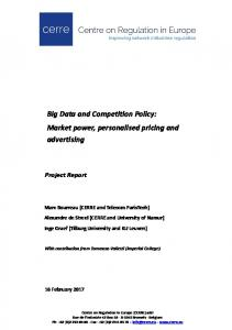 Big Data and Competition Policy - SSRN
