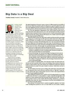 Big Data Is a Big Deal - OnePetro