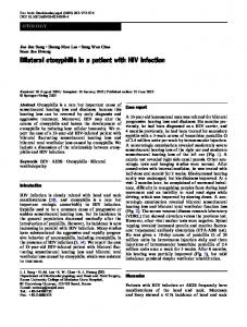 Bilateral otosyphilis in a patient with HIV infection - Springer Link