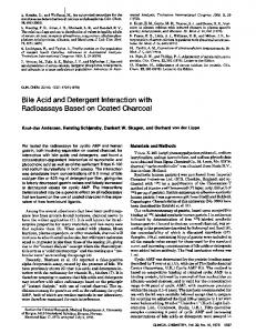 Bile Acid and Detergent Interaction with
