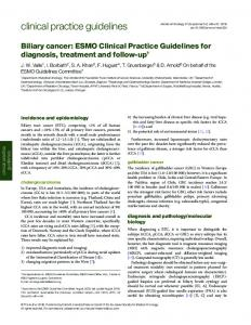 Biliary cancer: ESMO Clinical Practice Guidelines for diagnosis ...