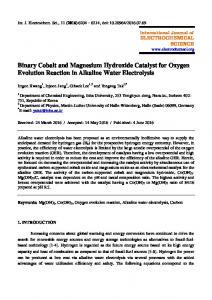 Binary Cobalt and Magnesium Hydroxide Catalyst for Oxygen ...