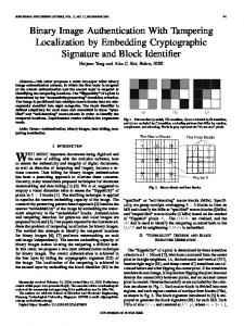 Binary Image Authentication With Tampering ... - IEEE Xplore