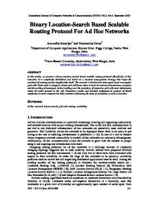 Binary Location-Search Based Scalable Routing Protocol For Ad Hoc