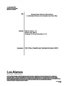 Binding Carbon Dioxide in Mineral Form - Research Library - Los ...