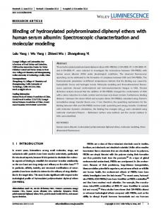 Binding of hydroxylated polybrominated diphenyl ethers with human ...