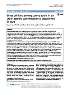 Binge drinking among young adults in an urban tertiary care ...