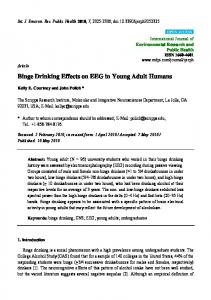 Binge Drinking Effects on EEG in Young Adult