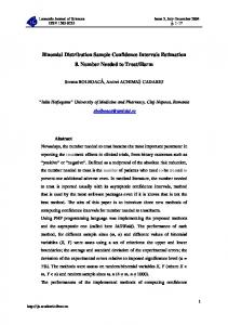 Binomial Distribution Sample Confidence Intervals Estimation 8 ...
