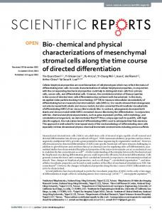 Bio- chemical and physical characterizations of ... - Semantic Scholar