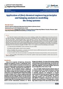 (bio) chemical engineering principles and ... - Juniper Publishers
