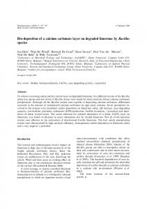 Bio-deposition of a calcium carbonate layer on ... - Springer Link