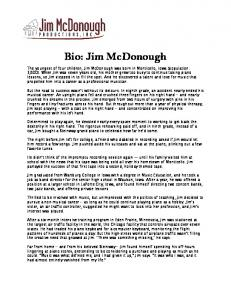 Bio: Jim McDonough - Piano Favorites