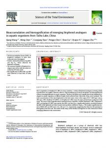 Bioaccumulation and biomagnification of emerging
