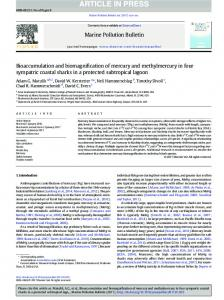 Bioaccumulation and biomagnification of mercury and methylmercury ...