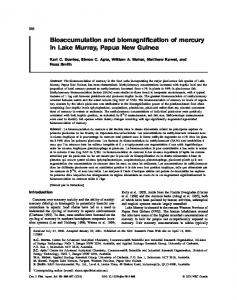 Bioaccumulation and biomagnification of mercury in Lake Murray ...