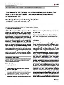 bioaccumulation and health risk assessments of heavy ... - Springer Link