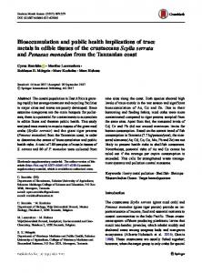 Bioaccumulation and public health implications of ...