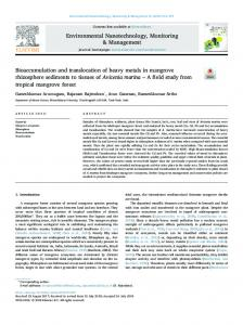 Bioaccumulation and translocation of heavy metals in ...