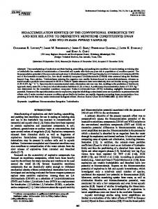 Bioaccumulation kinetics of the conventional energetics TNT and RDX ...